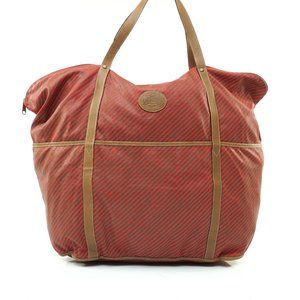 Auth Gucci Travel Bag Red Nylon #7893G17
